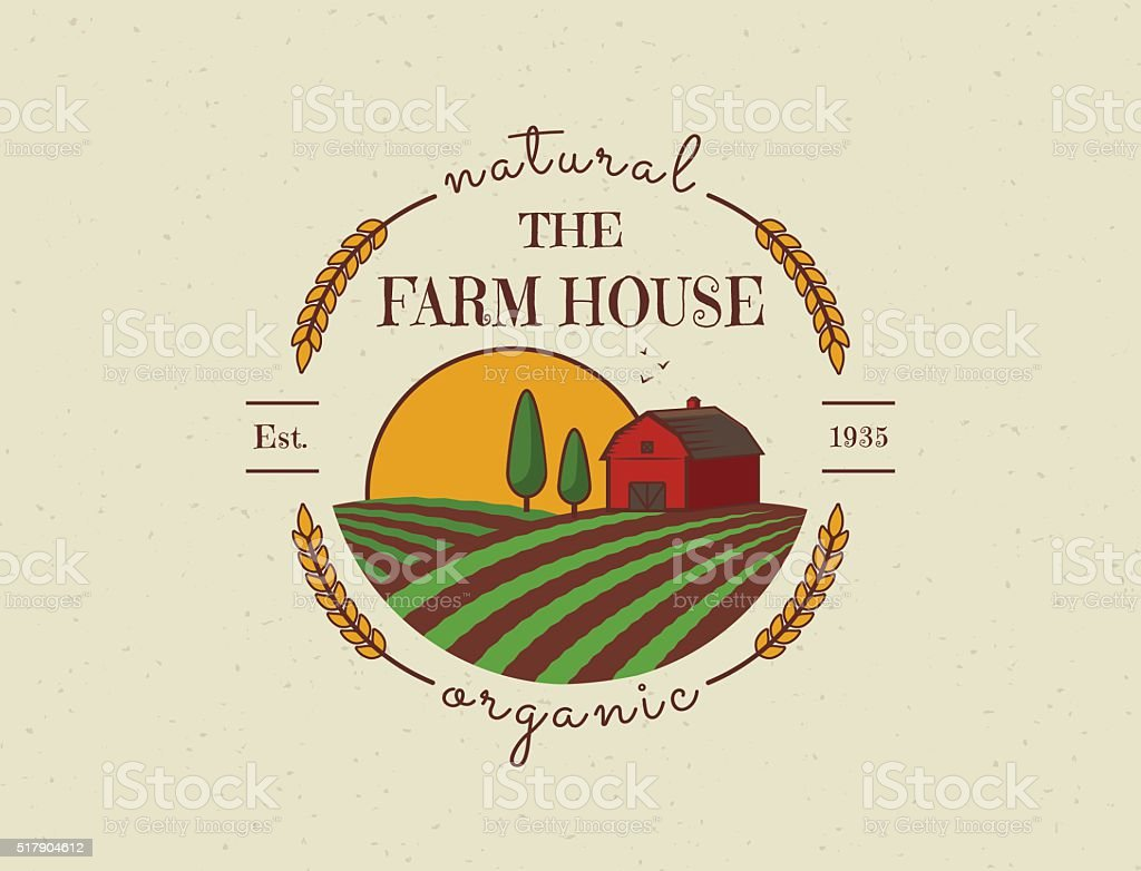 Farm House vector symbol. vector art illustration