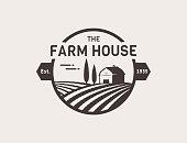 Farm House vector.