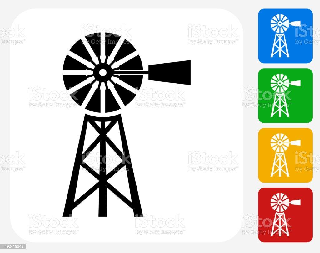 Farm Icon Flat Graphic Design vector art illustration