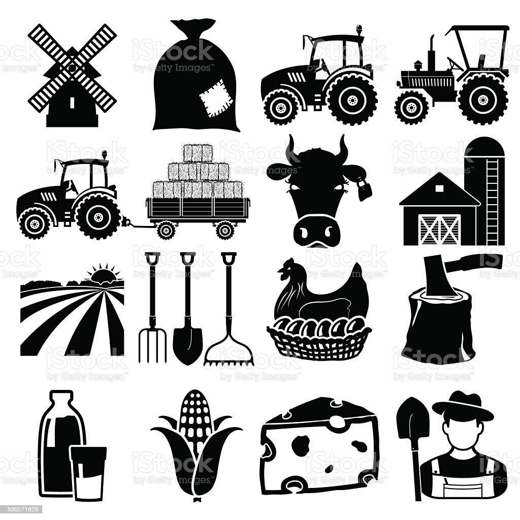 Farm icon vector art illustration