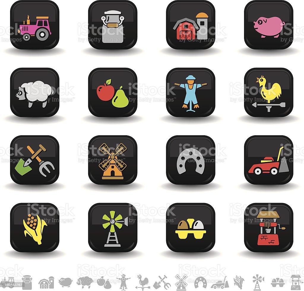 Farm icons | bbton series royalty-free stock vector art