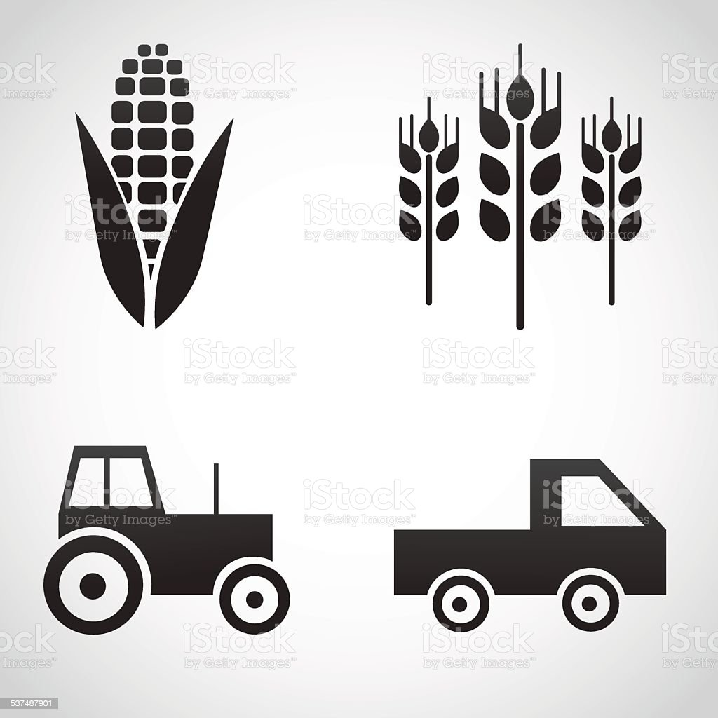 Farm icons isolated on white background. vector art illustration