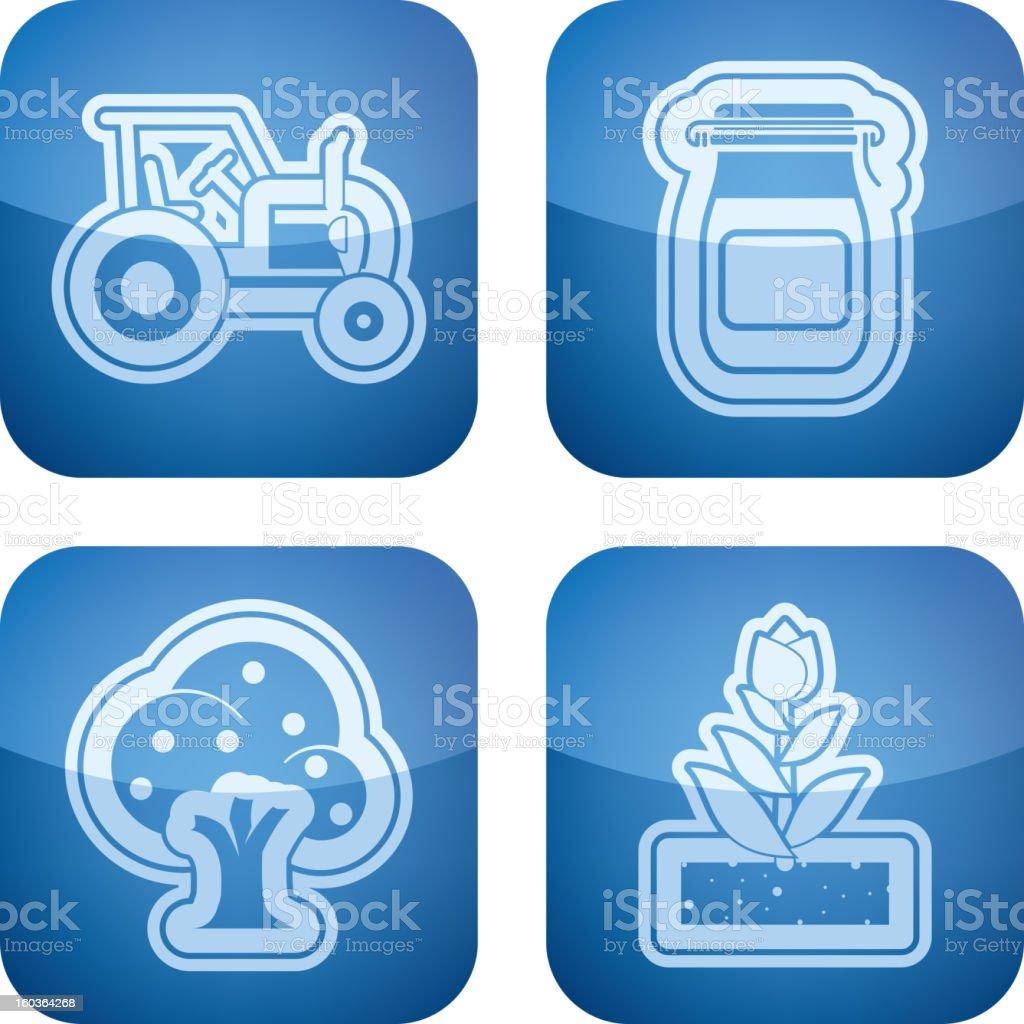 Farm Icons royalty-free stock vector art