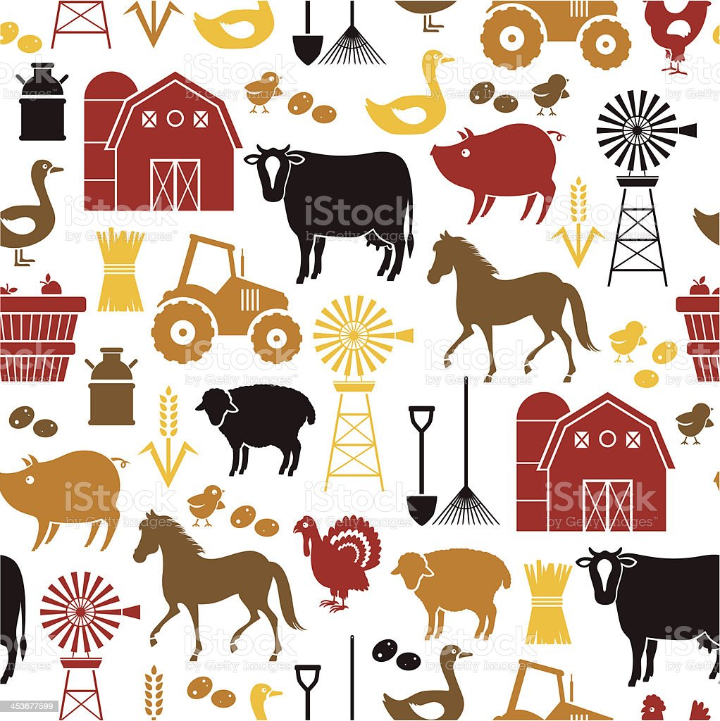 Farm Pattern royalty-free stock vector art