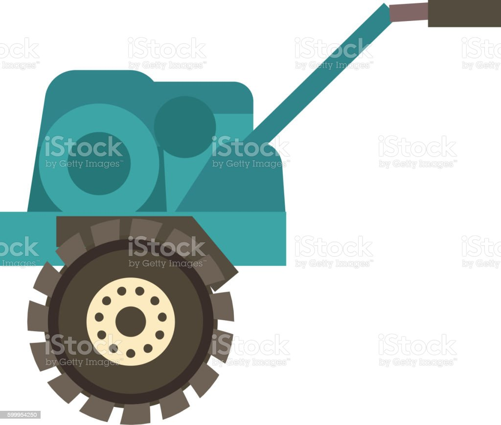 Farm plow vector illustration. vector art illustration