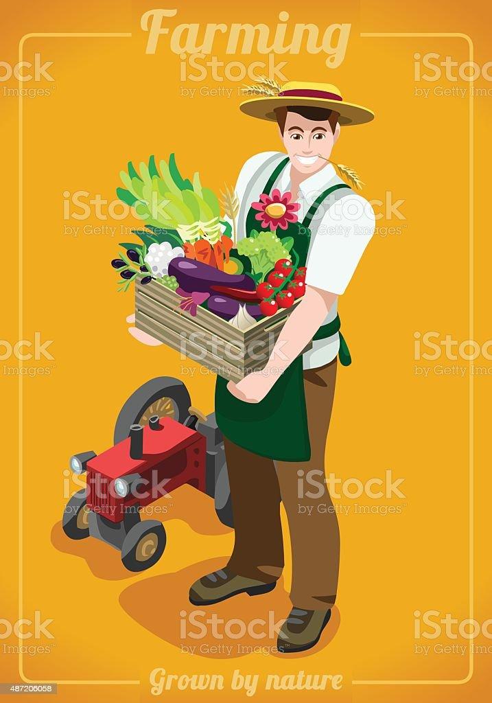Farm Services People Isometric vector art illustration