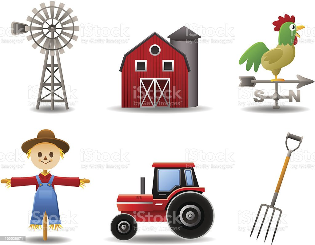 Farm Set royalty-free stock vector art