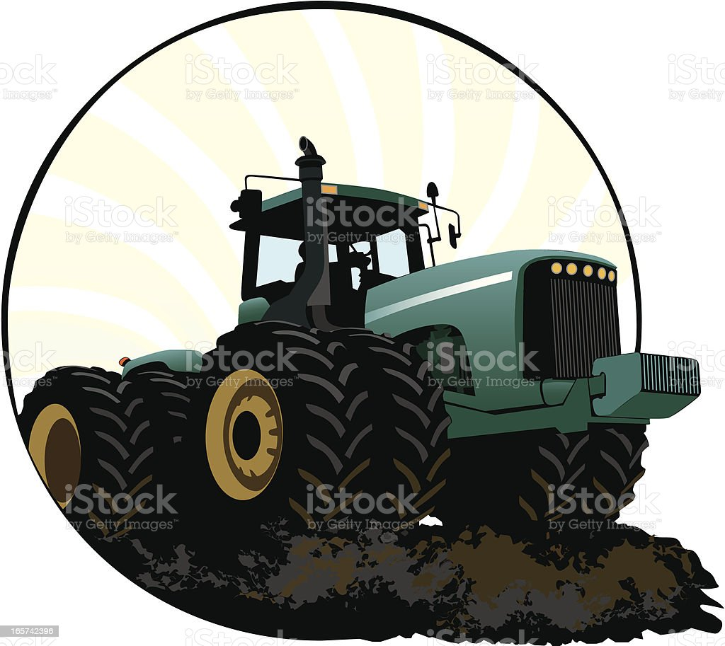 Farm Tractor royalty-free stock vector art