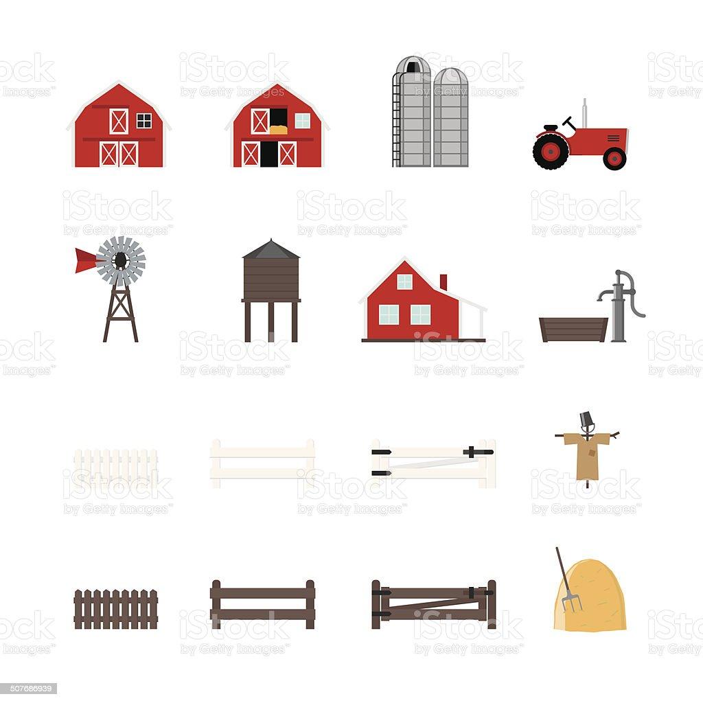 Farm Vector Icon Collection vector art illustration