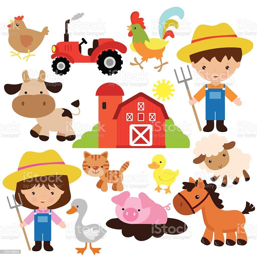 Farm vector illustration vector art illustration