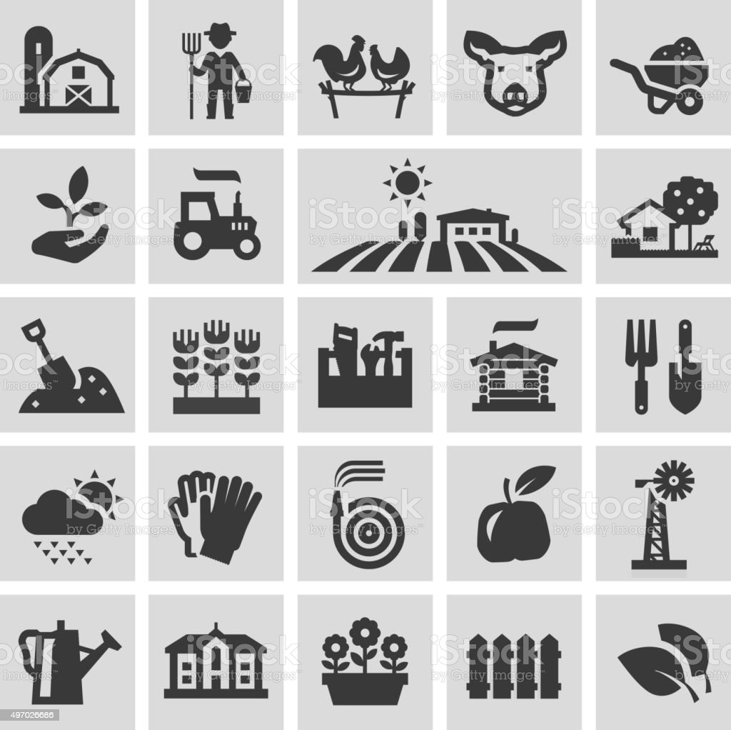 farm vector logo design template. gardening, horticulture or harvest, crop vector art illustration