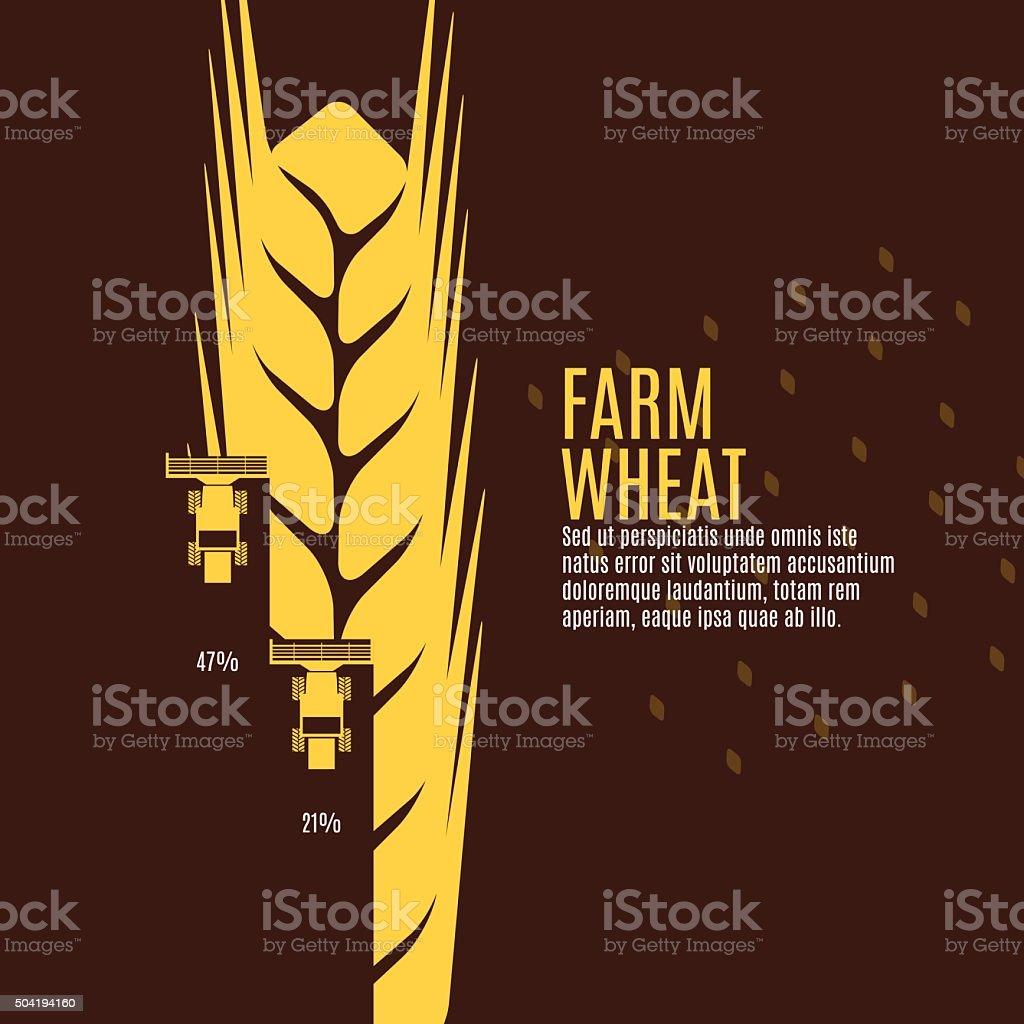 Farm wheat vector illustration vector art illustration