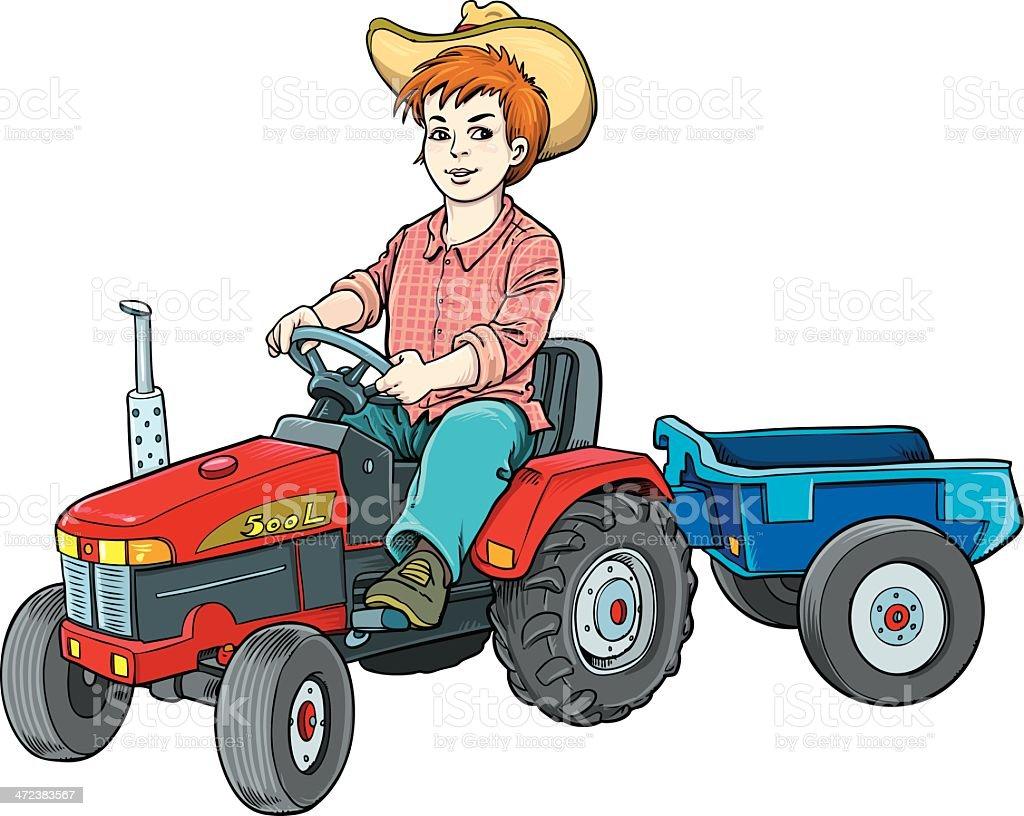 farmer kid royalty-free stock vector art