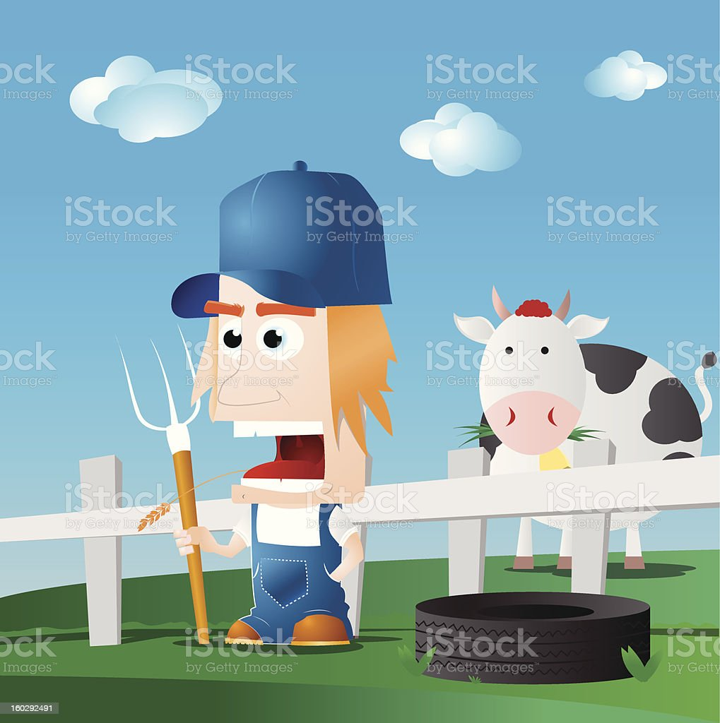 Farmer royalty-free stock vector art