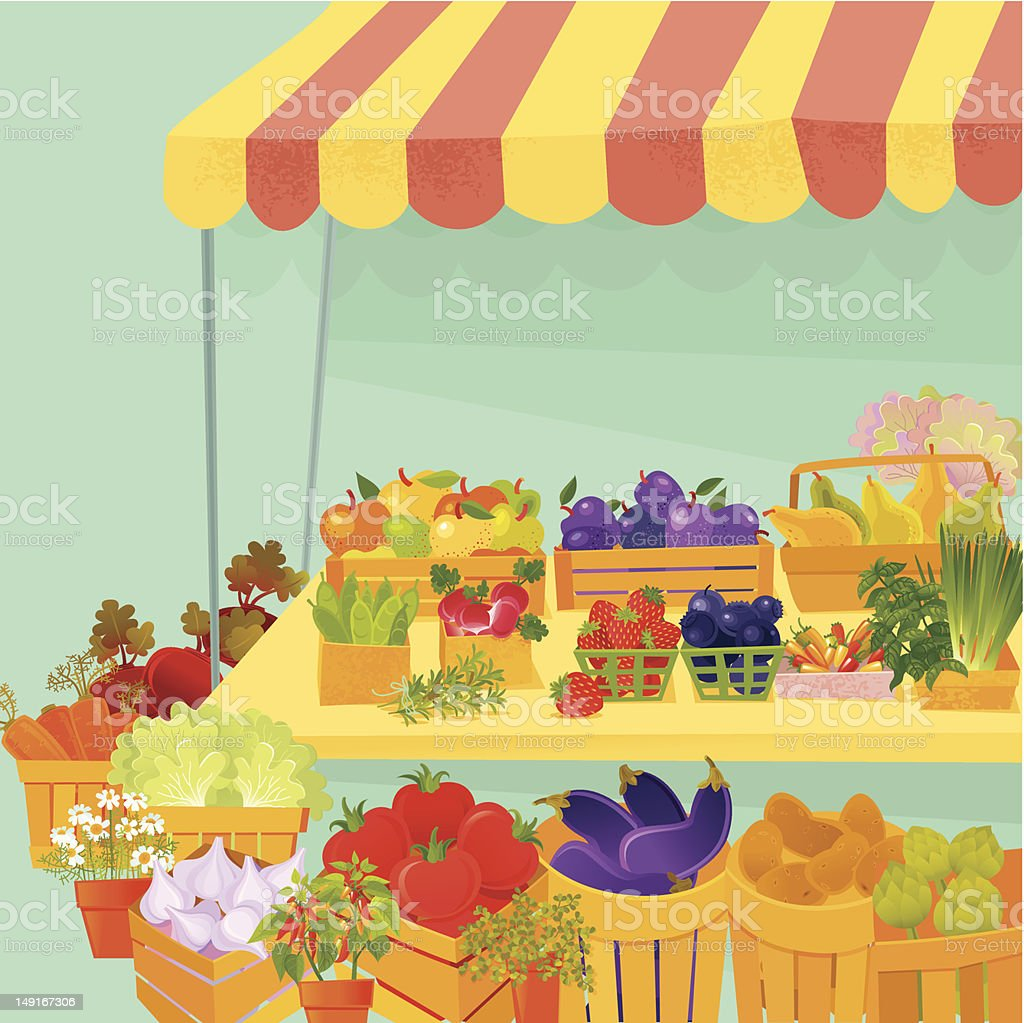 Farmer's Market royalty-free stock vector art