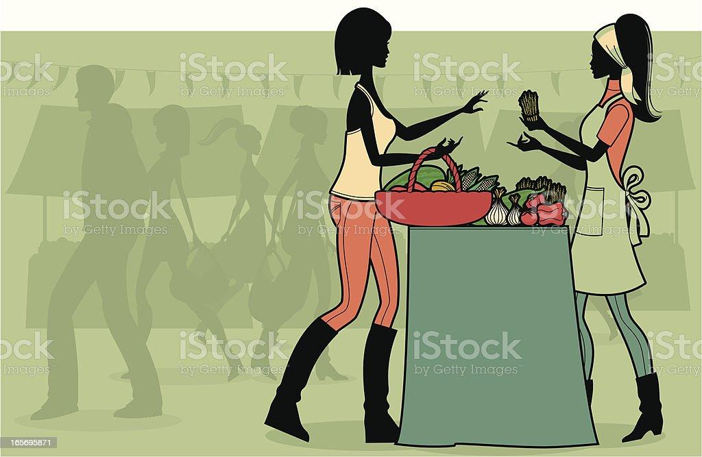 Farmer's Market royalty-free stock vector art