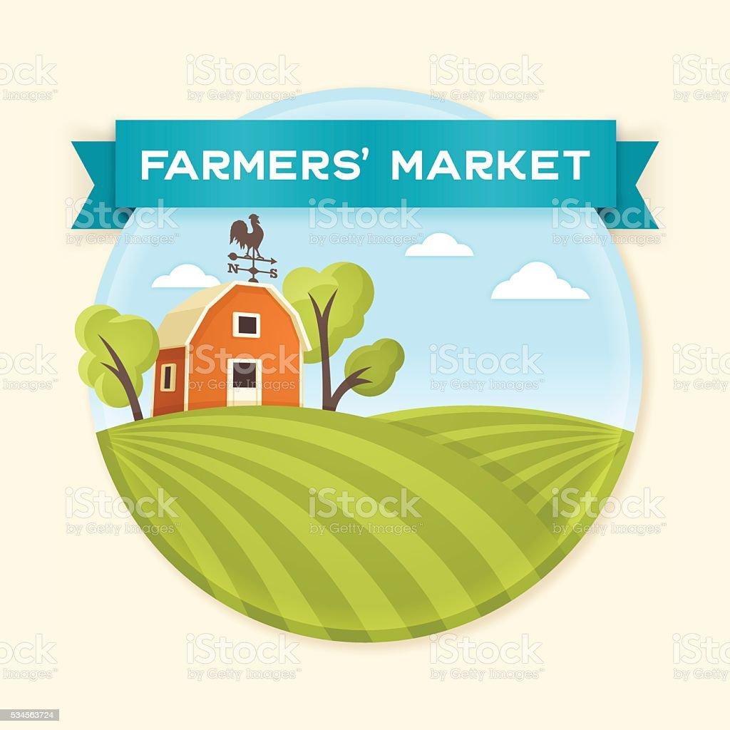 Farmers' Market vector art illustration
