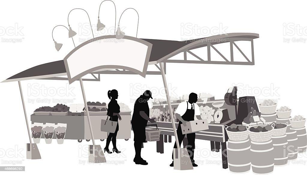 Farmer'sMarket vector art illustration