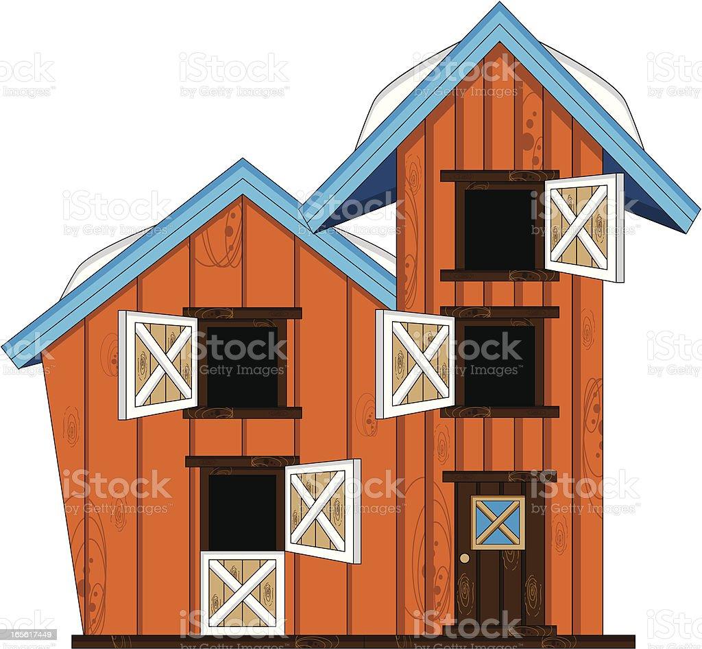 Farmhouse Building royalty-free stock vector art