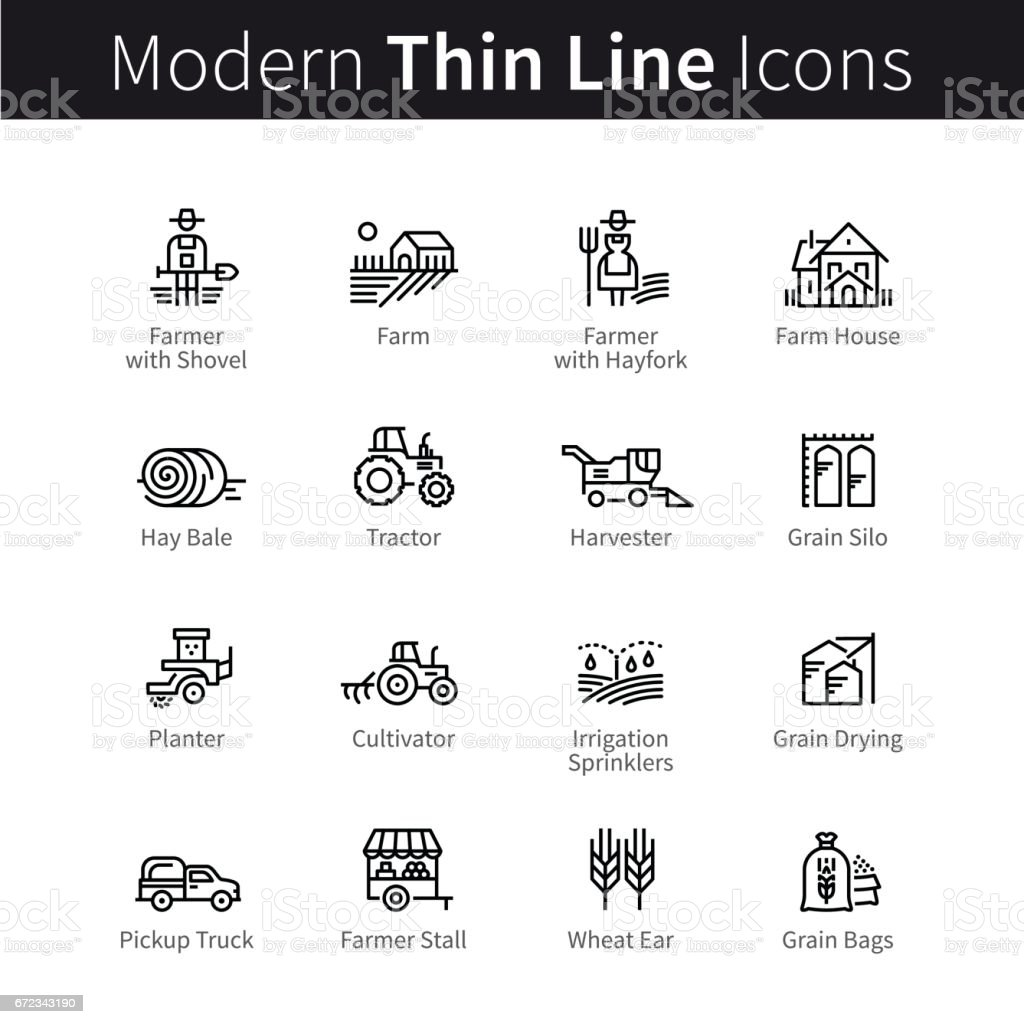Farming and agriculture life concept vector art illustration