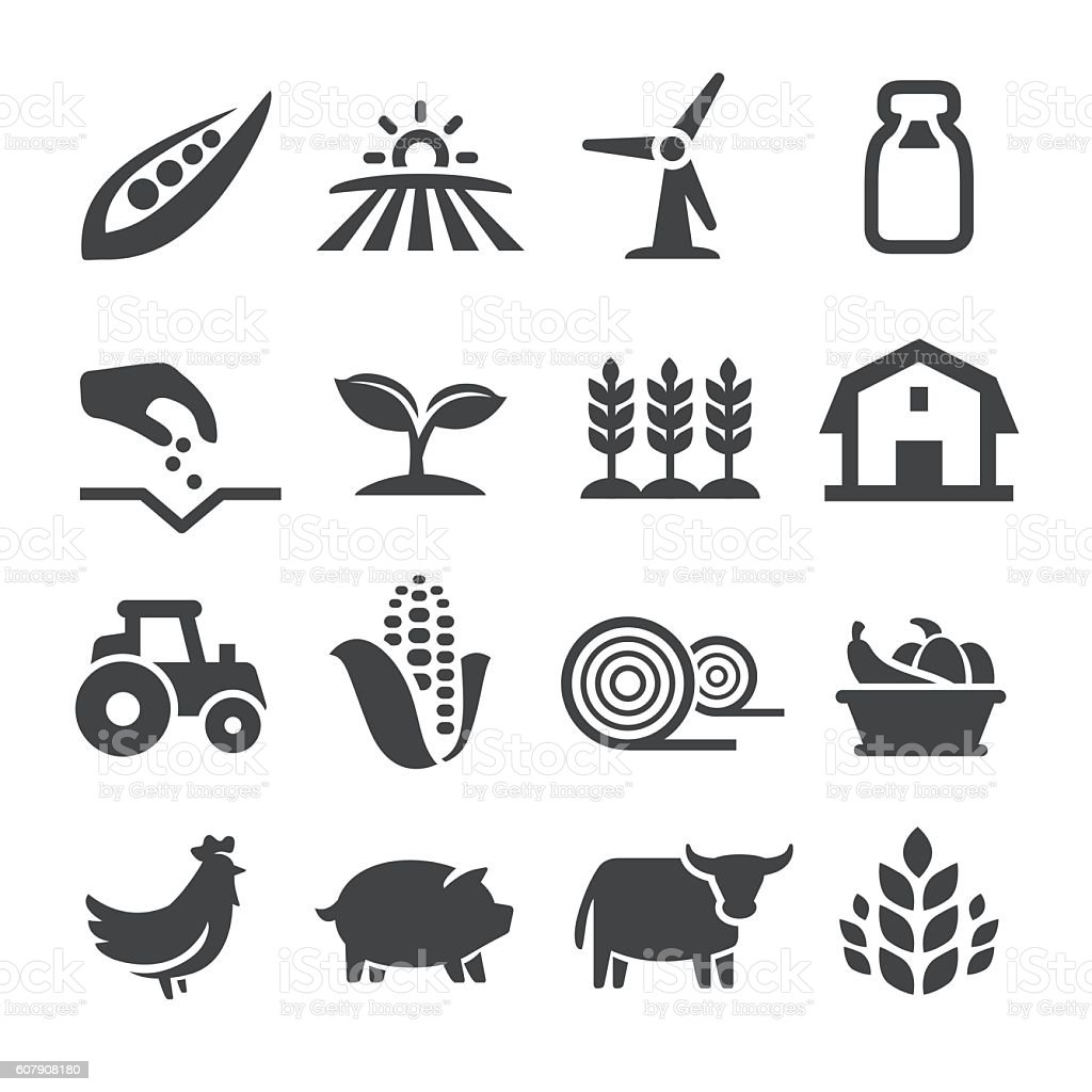 Farming Icons - Acme Series vector art illustration