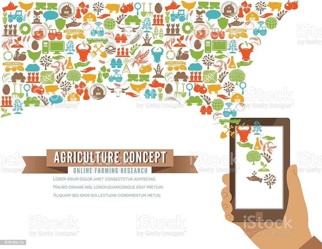 Farming Icons Shapes Concept vector art illustration