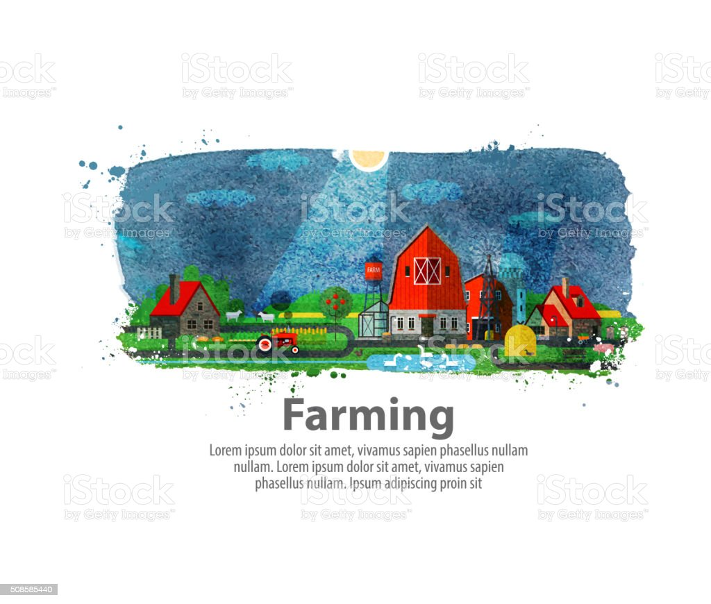farming or farm. vector illustration vector art illustration