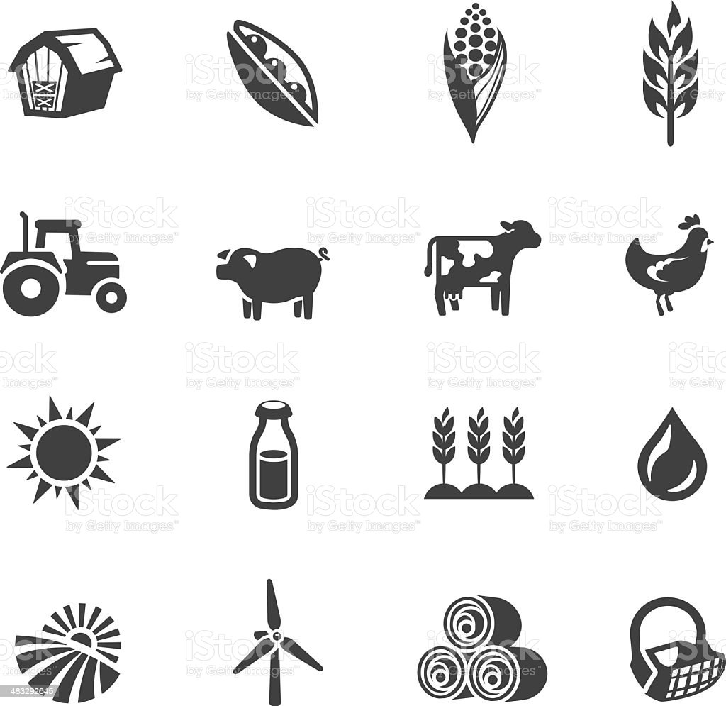 Farming Symbols vector art illustration