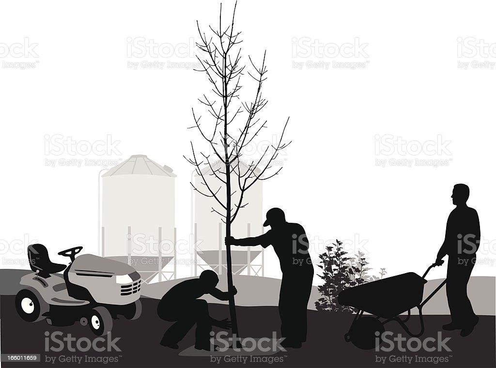 Farming vector art illustration