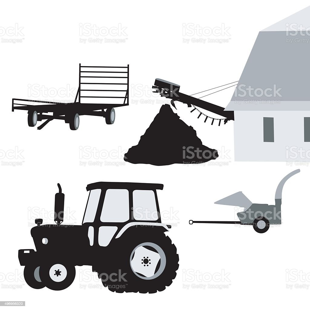 Farming vector art illustration