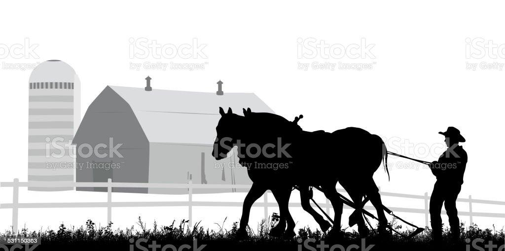 FarmingTraditions vector art illustration