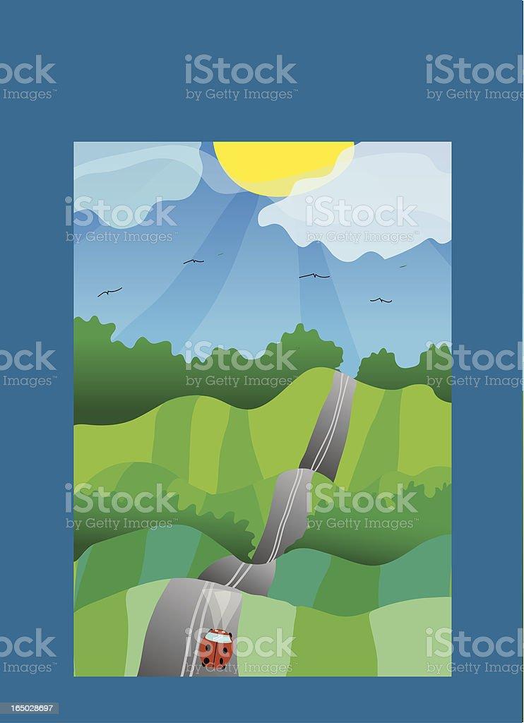Farmland Wonderland royalty-free stock vector art