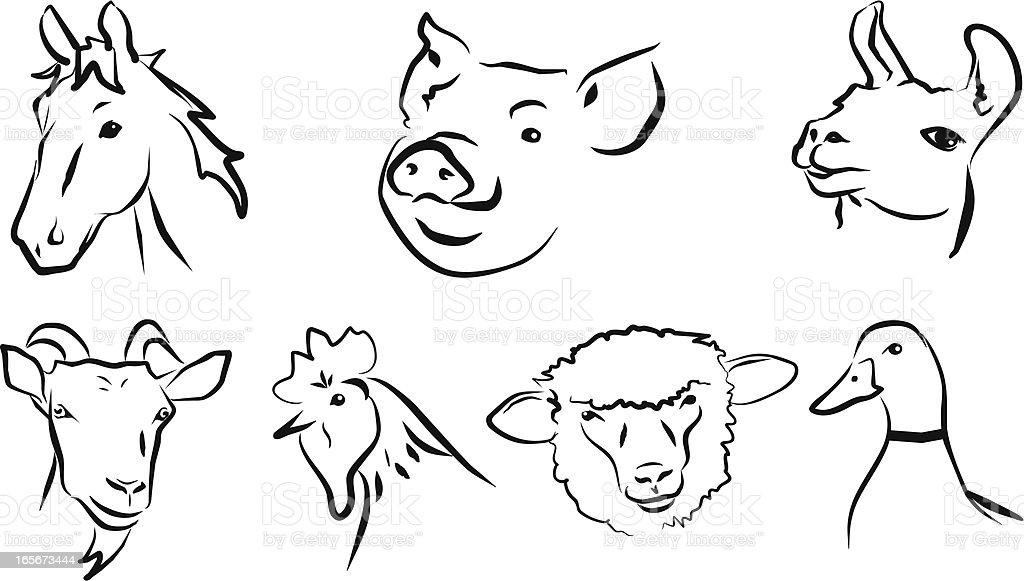Farm/Pet Animals royalty-free stock vector art