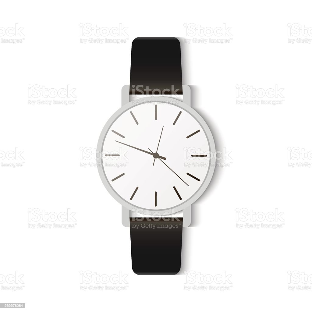 Fashion accessories watches vector art illustration