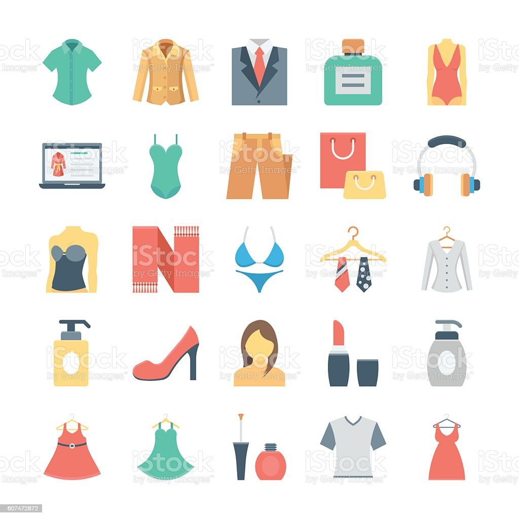 Fashion and Clothes Vector Icons 5 vector art illustration