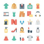 Fashion and Clothes Vector Icons 5