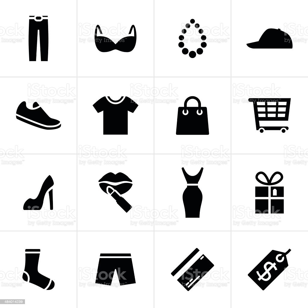 Fashion and Shopping Icons royalty-free stock vector art