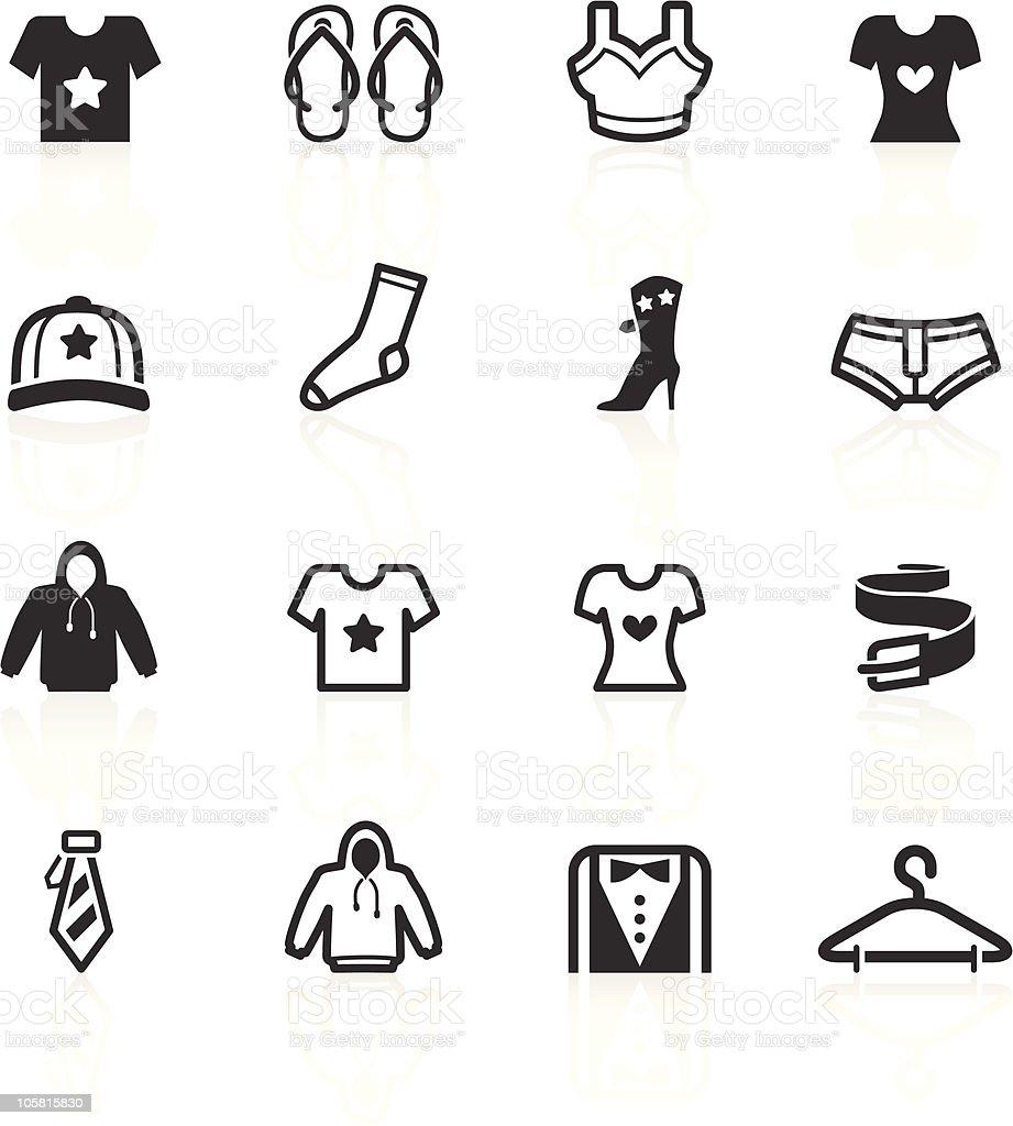 Fashion & Apparel Icons - minimo series royalty-free stock vector art