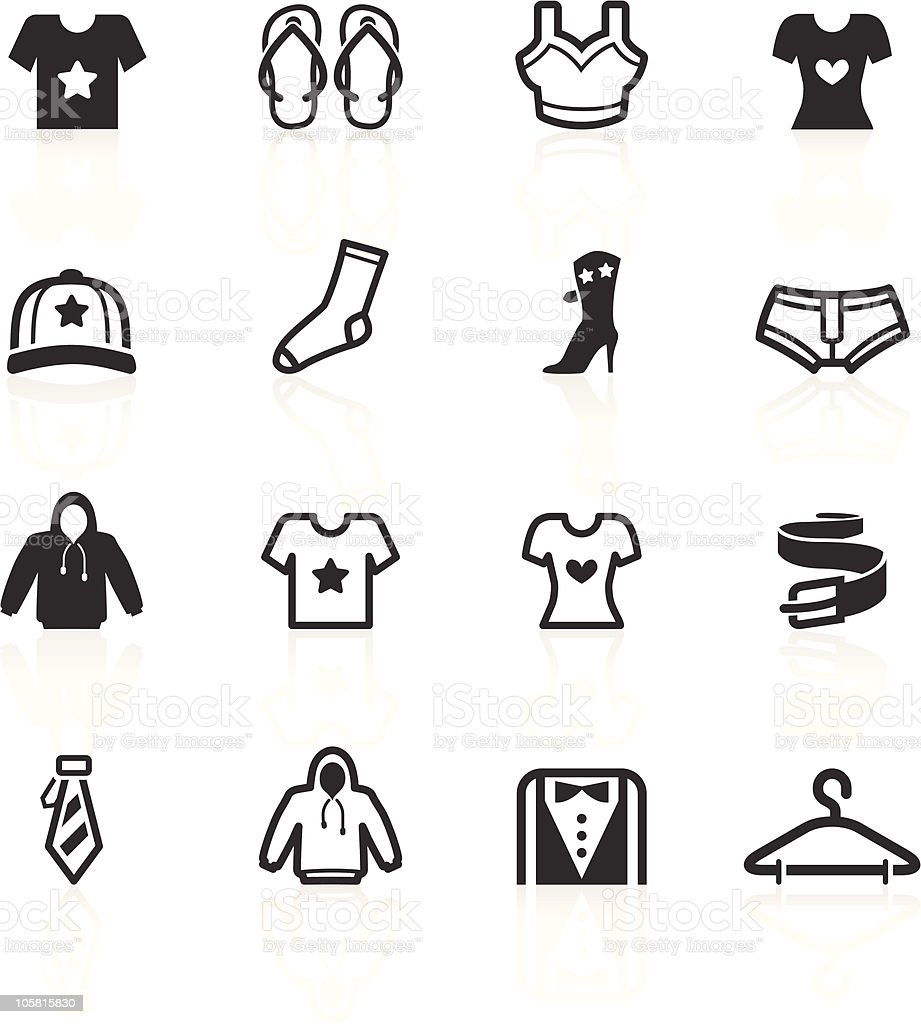 Fashion & Apparel Icons - minimo series vector art illustration