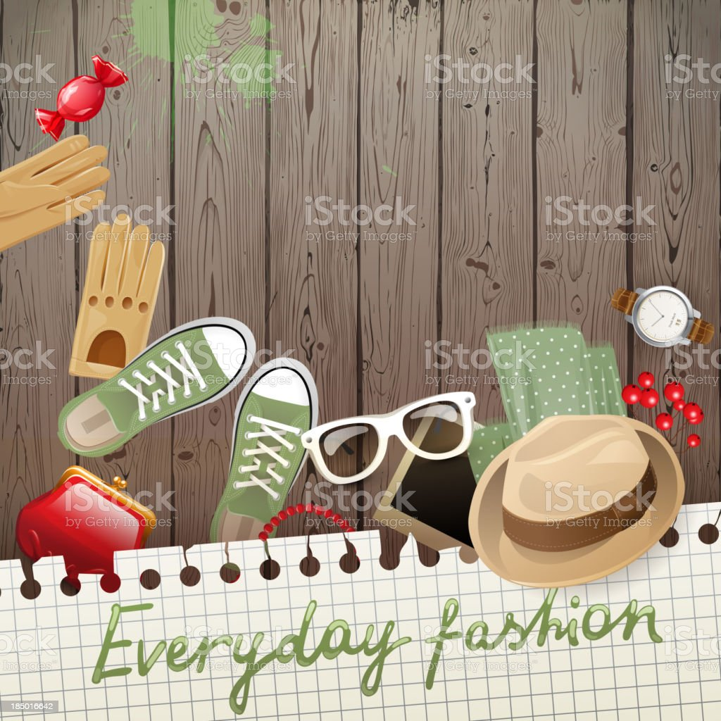 Fashion background royalty-free stock vector art