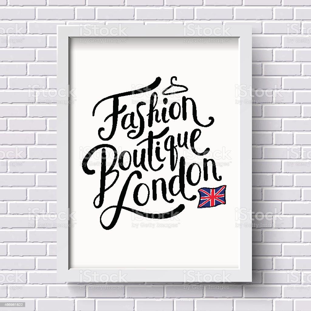 Fashion Boutique , London vector art illustration