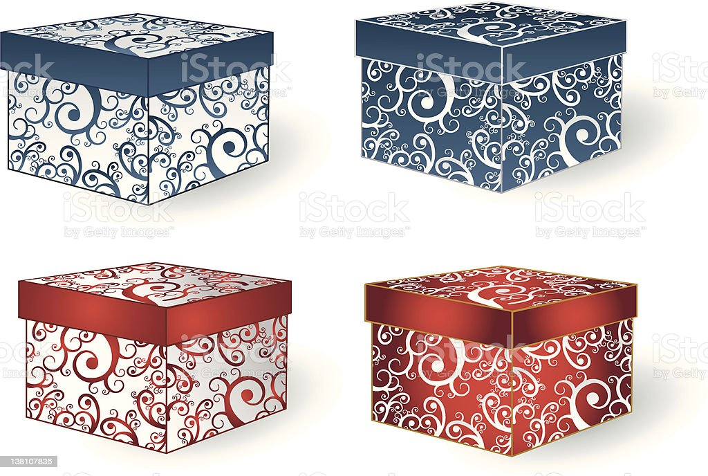 Fashion Boxes royalty-free stock vector art