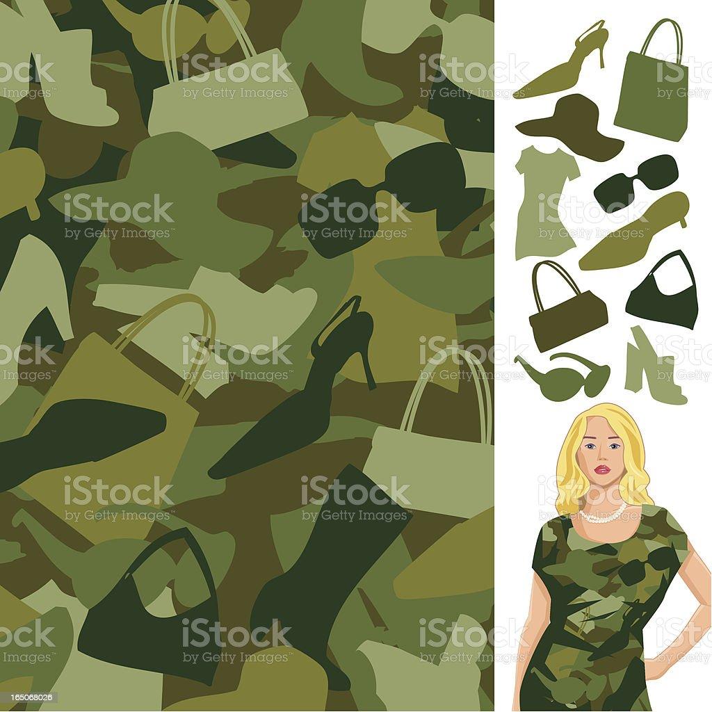 Fashion Camo royalty-free stock vector art