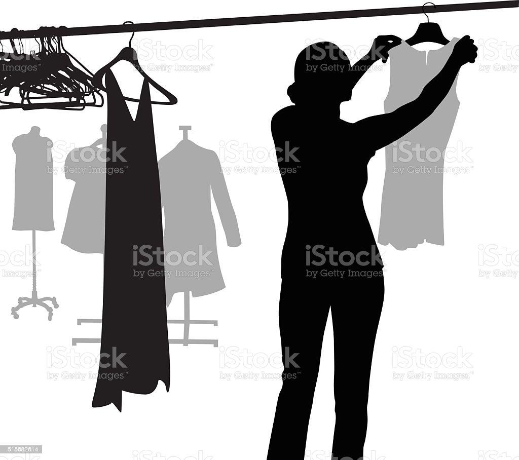 Fashion Designer Silhouette vector art illustration