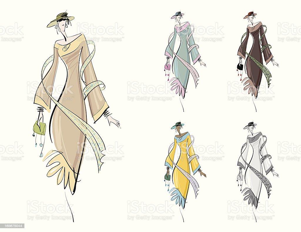 Fashion Drawing vector art illustration