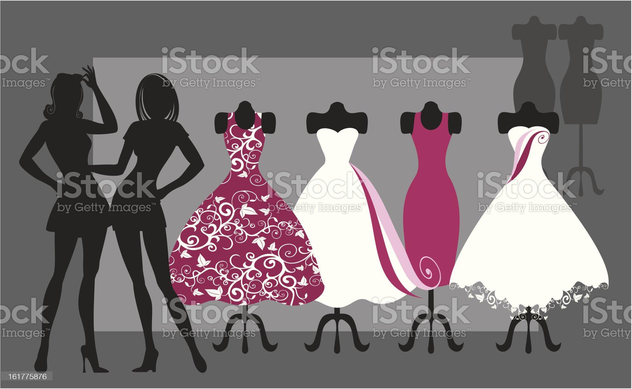 fashion dresses royalty-free stock vector art
