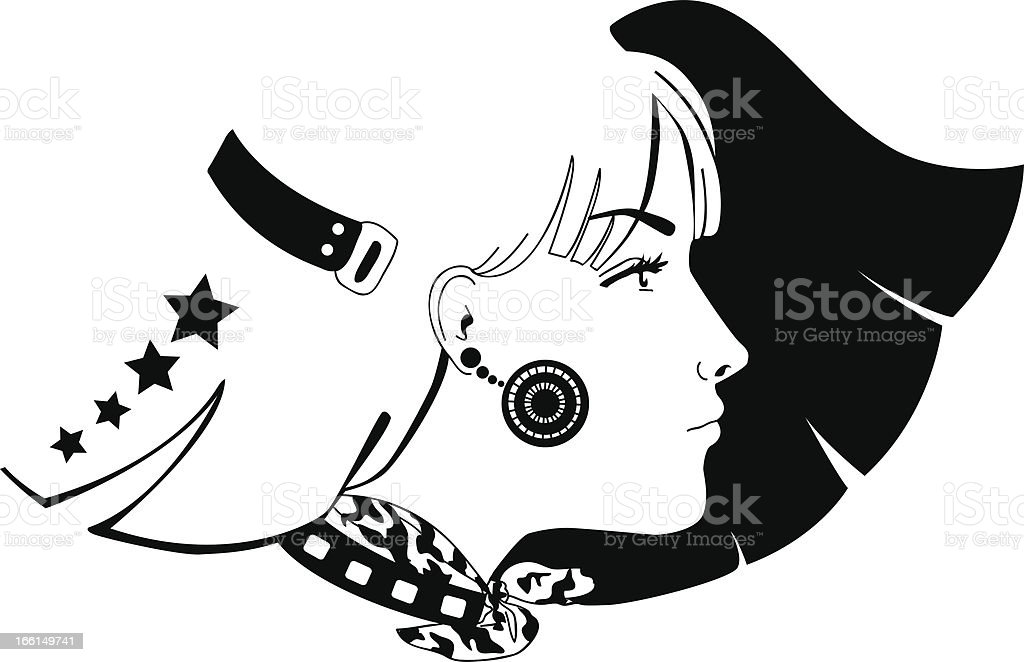 Fashion girl royalty-free stock vector art