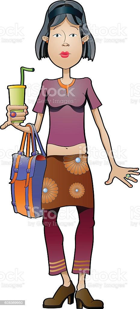 Fashion girl vector art illustration