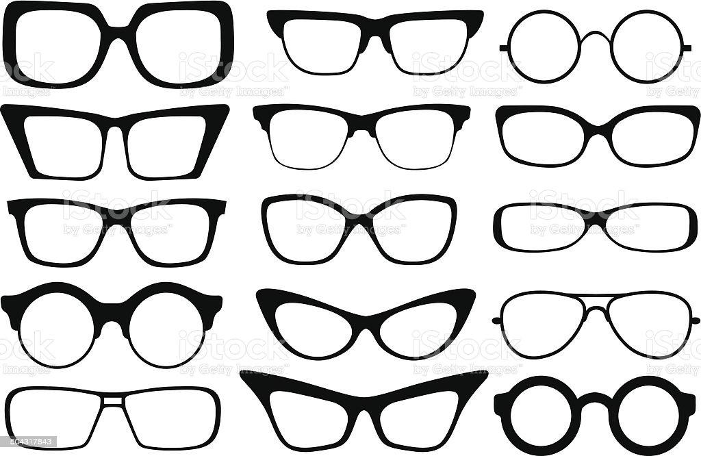 fashion glasses vector art illustration