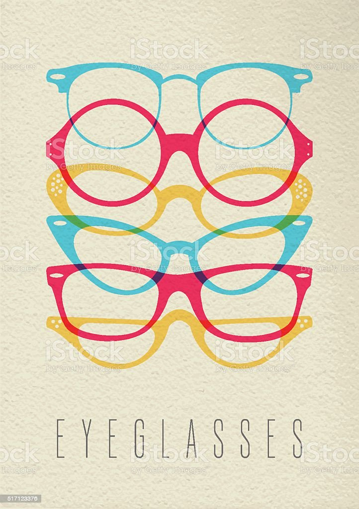 Fashion hipster glasses concept color design vector art illustration